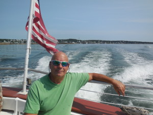 Mike leaving Stonington, Maine